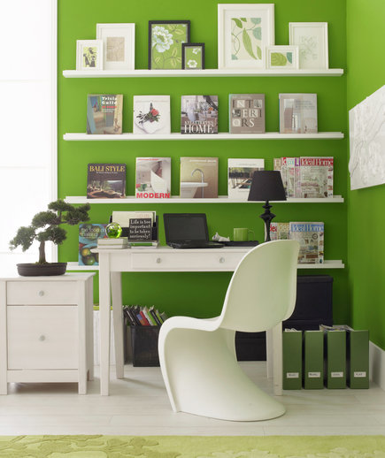 The Great Wall  17 Surprising Home Office Ideas  Real Simple