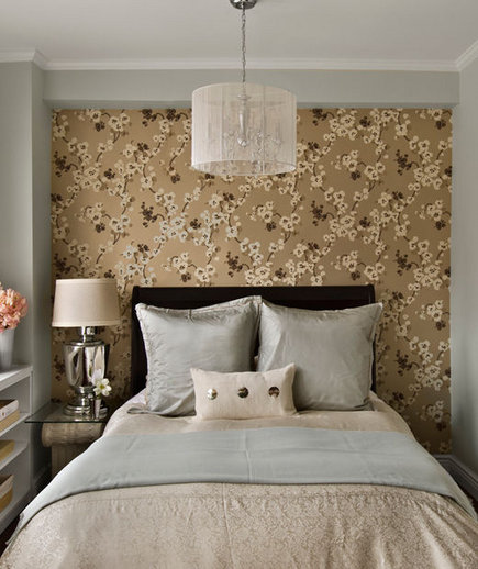 understated glamour - Floral Wallpaper Bedroom Ideas