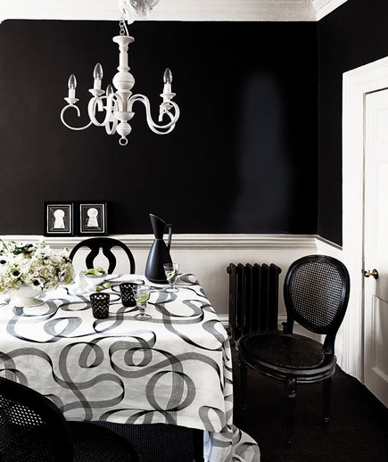 High Contrast | 32 Elegant Ideas for Dining Rooms | Real Simple