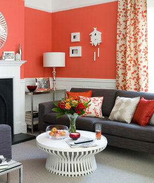 red living room - Living Room Design Ideas