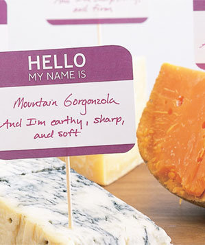 Labeled cheeses