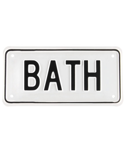 Irwin Hodson Bath Sign