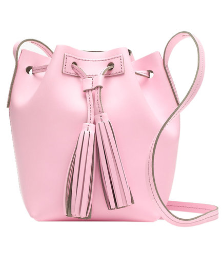 J Crew Mini Bucket Bag in Leather