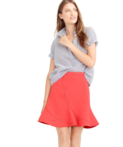 J.Crew Flutter Mini Skirt Ornamental Red