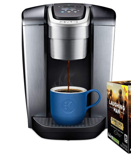 Keurig K-Elite Single Serve Coffee Maker with Laughing Man Colombia Huila K-Cup Pods