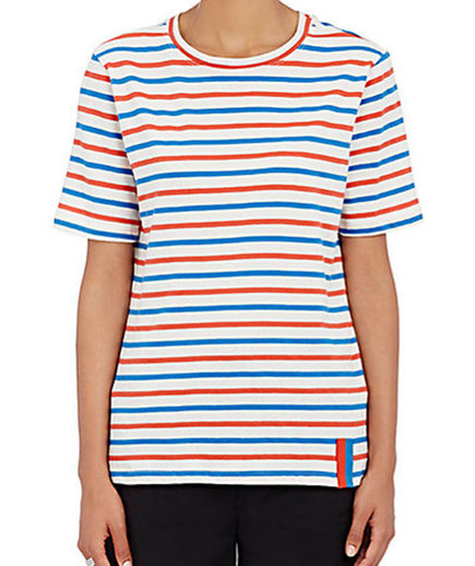 Kate Middleton Style: Modern Striped Cotton T-Shirt