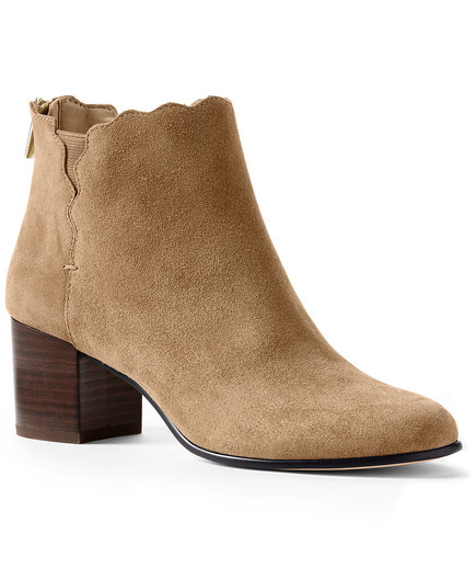 Lands' End Heeled Scalloped Booties