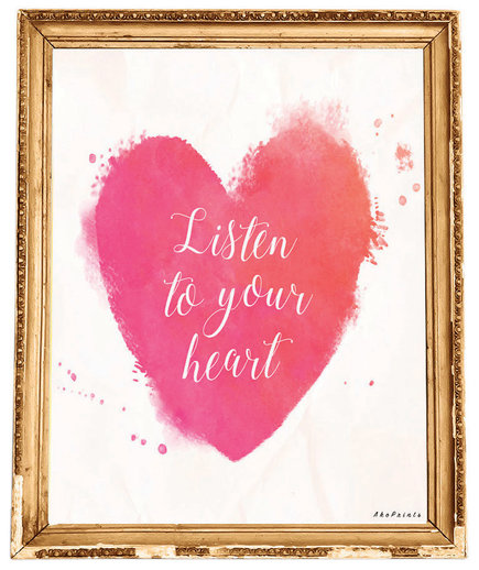 Watercolor Heart Print