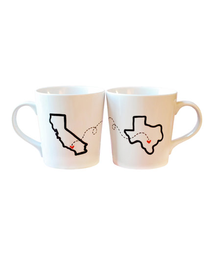 Long Distance Relationship State Mugs