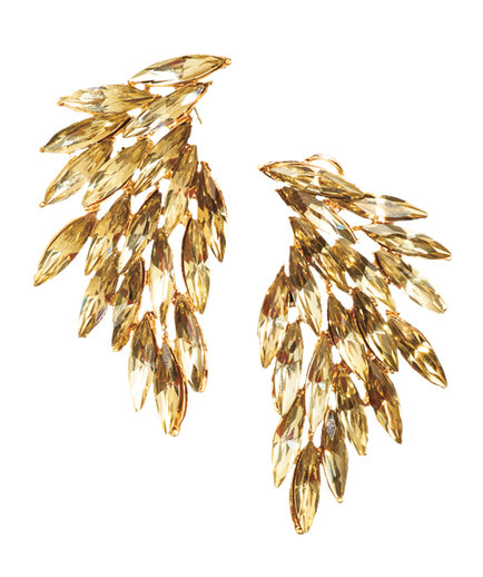 Luxe Wing Champagne-crystal Earrings by T+J Designs