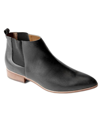 Gap Leather Chelsea Boots Matte Black