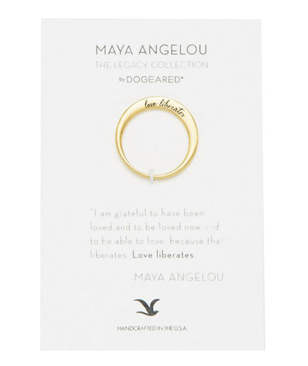 'Love Liberates' Gold-Plated Ring