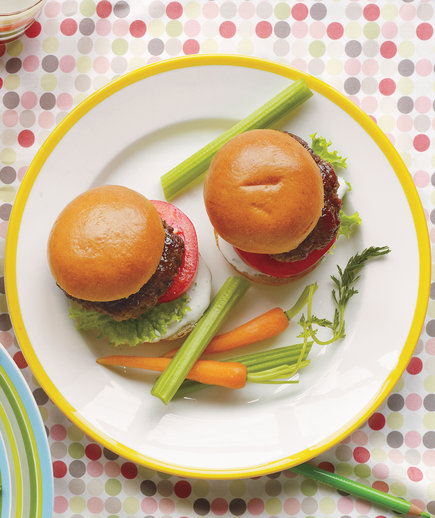 mini ranch burgers
