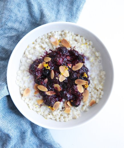 Barley Breakfast Bowl With Mixed Berry Compote