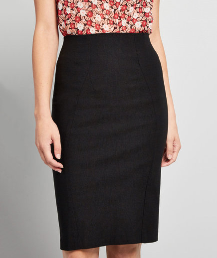 ModCloth I'll Have The Usual Pencil Skirt in Black