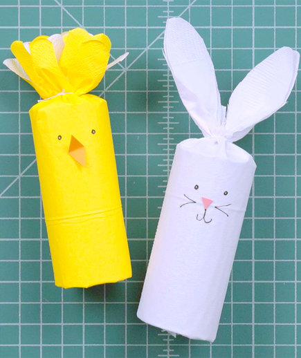 Easter Bunny and Chick Napkins