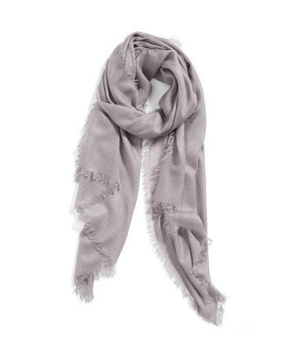 Nordstrom Cashmere & Silk Wrap Grey Clay
