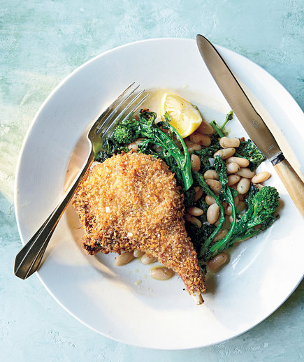 Clone of Panko-Crusted Pork Chops with Roasted Broccoli Rabe