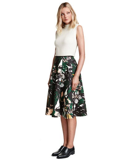 H&M Patterned Scuba Skirt
