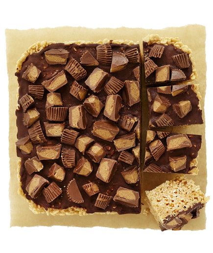 Peanut Butter and Chocolate Marshmallow Treats