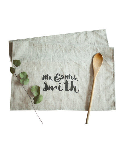 Personalized Tea Towel