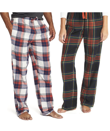 Old Navy Black and Red Plaid Flannel Sleep Pants