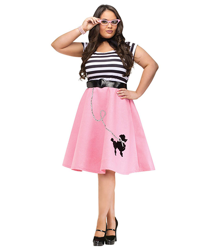Plus Size Poodle Skirt Dress Costume
