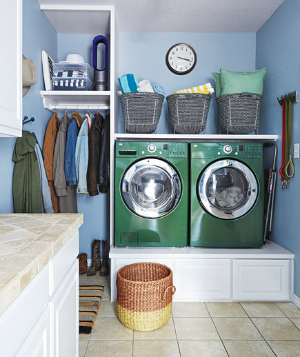 set up an efficient laundry room - real simple a Laundry Room