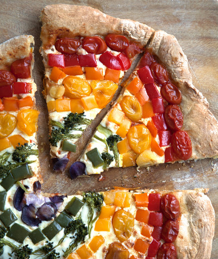 Rainbow Pizza (Most Popular Recipes of 2016)