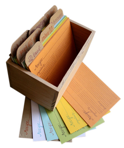 Letterpress Recipe Cards and Recipe Box