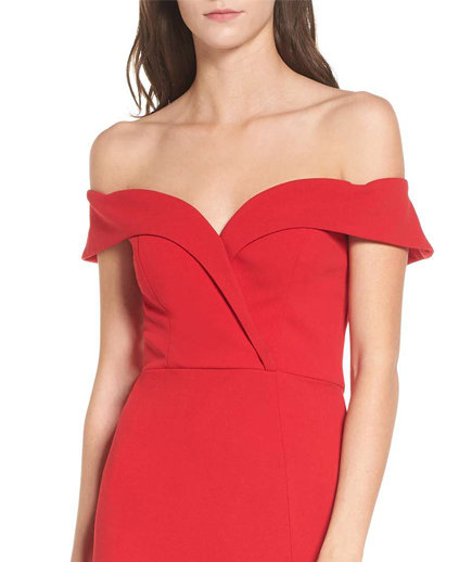 Speechless Off the Shoulder Body-Con Dress
