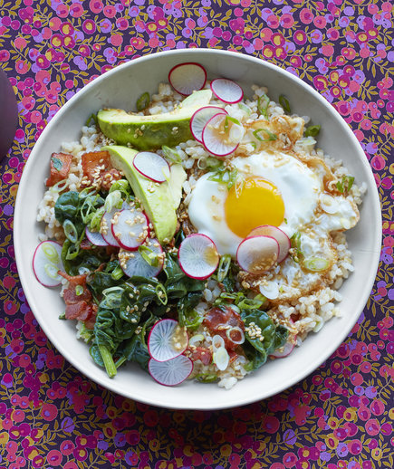 Brown Rice Bowl with Egg and Avocado