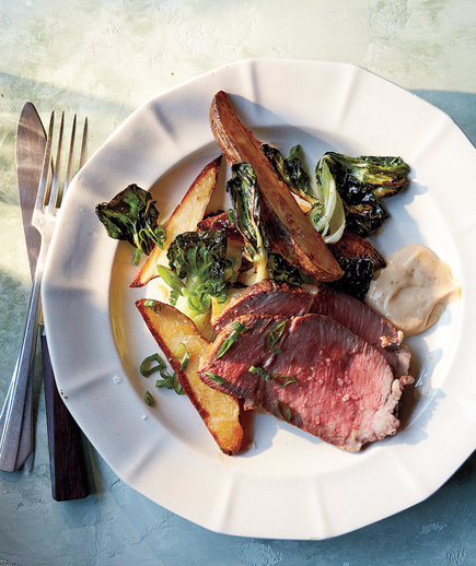 Clone of Roast Beef With Potatoes, Bok Choy, and Miso Mayo