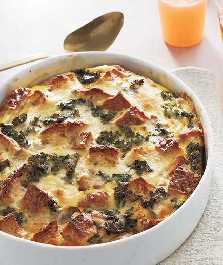 Sausage, Egg, and Kale Strata (7 Breakfast Casseroles That'll Please a Crowd)
