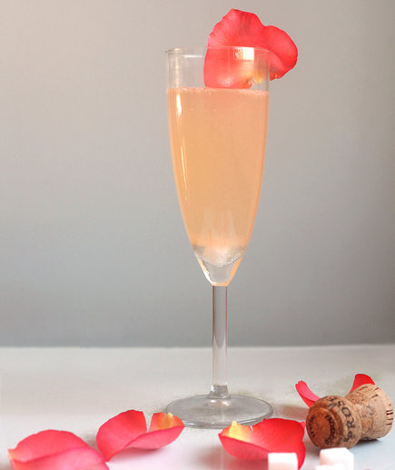 Sparkling Rose Cocktail