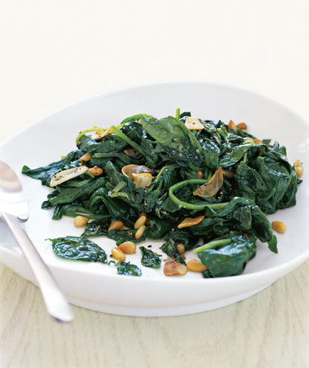 Sautéed Spinach With Basil (Farmer's Market Finds: June 21st)