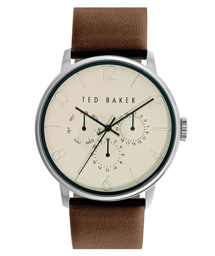 Multifunction Leather Strap Watch