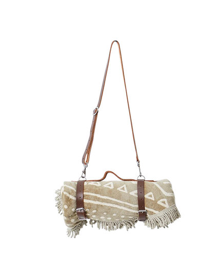 The Beach People Leather Carrier