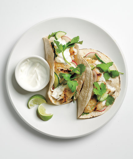 Tilapia Tacos With Cucumber Relish - Landscape