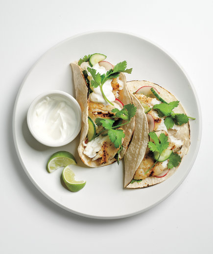Tacos With Cucumber Relish and Tilapia recipe