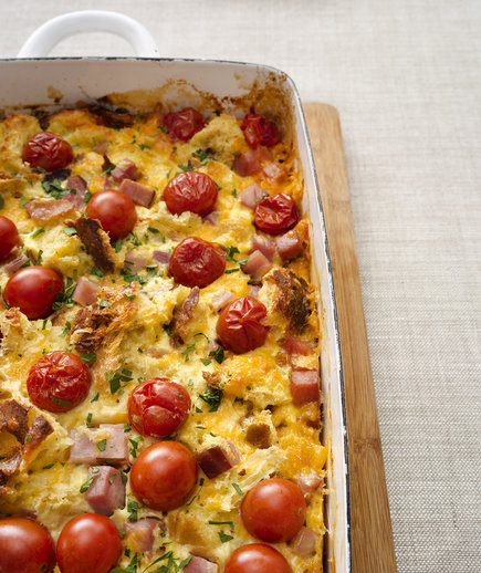 Clone of Tomato and Ham Breakfast Casserole