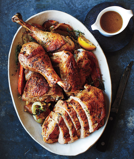 Quick-Roasting Turkey With Thyme Butter and Gravy