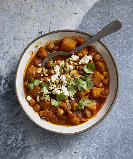 Clone of Slow-Cooker Butternut Squash, Chickpea and Harissa Chili