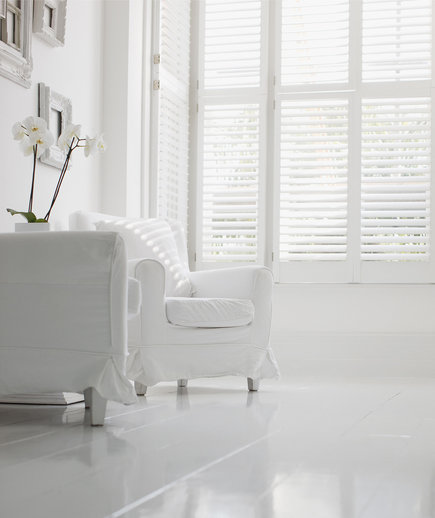 White room with white chair