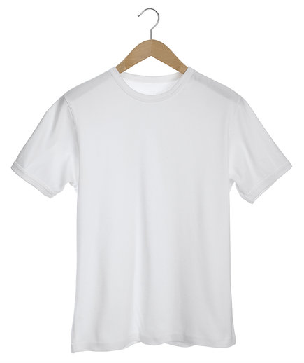 Plain white t-shirt on hanger