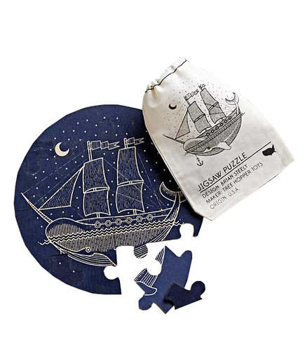 Wooden Ship Puzzle
