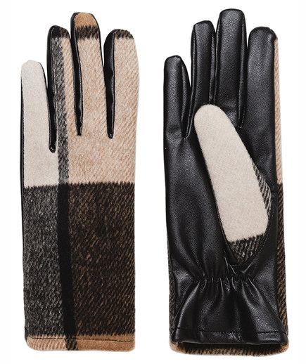 Zara Check Gloves