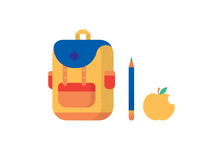 backpack-pencil-apple-illustration