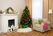 pictures living room. christmas tree living room Real Simple  Home Decor Ideas Recipes DIY Beauty Tips