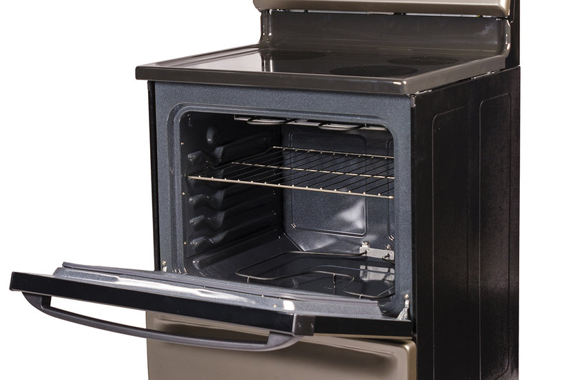 lay down a silicone oven liner